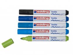 Acheter Lot de 5 marqueurs textiles - pointe 2-3mm - couleurs ...