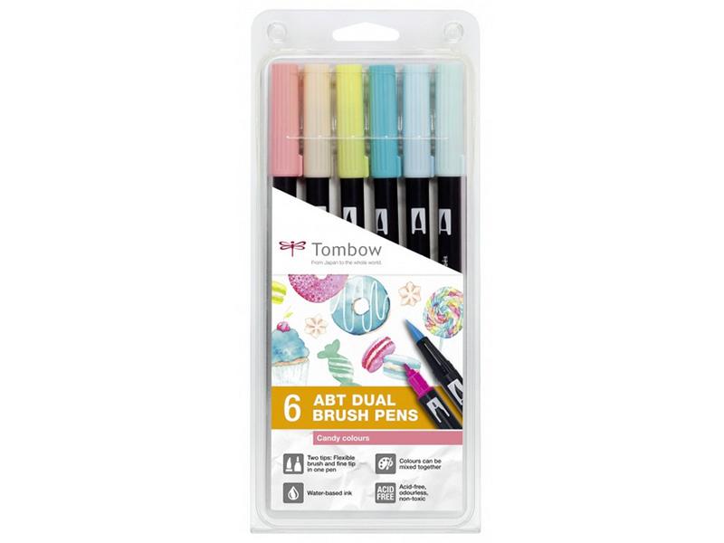 Acheter Set de 6 feutres double pointe pour lettering - couleurs bonbons - 23,89€ en ligne sur La Petite Epicerie - 100% Loi...