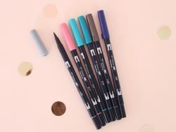 Acheter Set de 6 feutres double pointe pour lettering - couleurs vintage - 23,89€ en ligne sur La Petite Epicerie - Loisirs ...