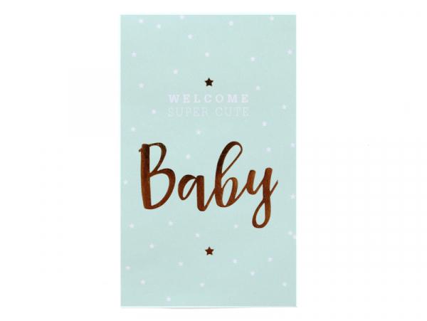 """Acheter Etiquette autocollante """"Baby"""" - mint et doré - 0,24€ en ligne sur La Petite Epicerie - 100% Loisirs créatifs"""