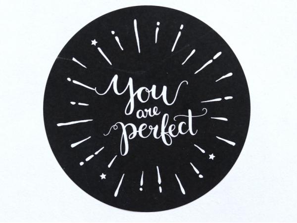 """Acheter Etiquette autocollante """"You are perfect"""" - noir et blanc - 0,15€ en ligne sur La Petite Epicerie - 100% Loisirs créa..."""