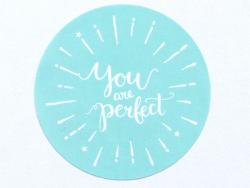 """Acheter Etiquette autocollante """"You are perfect"""" - blanc et mint - 0,15€ en ligne sur La Petite Epicerie - 100% Loisirs créa..."""