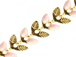 Acheter Chaîne épi émaillée - alternance rose et doré - 1,99€ en ligne sur La Petite Epicerie - Loisirs créatifs