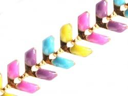 Acheter Chaîne épi émaillée - multicolore fluo - 2,59€ en ligne sur La Petite Epicerie - 100% Loisirs créatifs