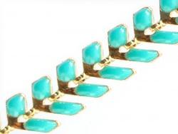 Acheter Chaîne épi émaillée - vert émeraude - 2,39€ en ligne sur La Petite Epicerie - 100% Loisirs créatifs