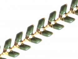 Acheter Chaîne épi émaillée - vert olive - 2,39€ en ligne sur La Petite Epicerie - 100% Loisirs créatifs