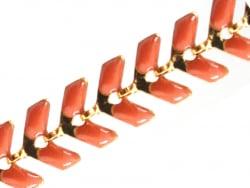 Acheter Chaîne épi émaillée - orange - 2,39€ en ligne sur La Petite Epicerie - Loisirs créatifs