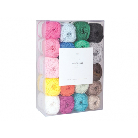 Acheter Set de 20 pelotes de coton - Ricorumi - 28,99€ en ligne sur La Petite Epicerie - Loisirs créatifs