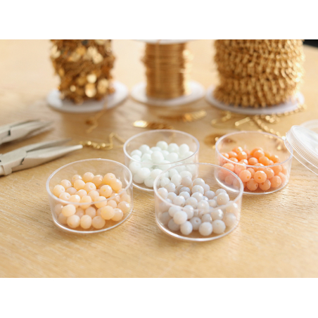 Acheter Lot de 50 perles à facettes en verre 4x6 mm - taupe clair - 1,59€ en ligne sur La Petite Epicerie - Loisirs créatifs