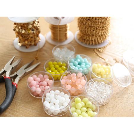 Acheter Lot de 50 perles à facettes en verre 8x6 mm - rose - 3,19€ en ligne sur La Petite Epicerie - 100% Loisirs créatifs