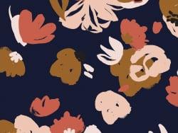 """Acheter Tissu viscose """"Posie Blue"""" - Atelier Brunette - 1,99€ en ligne sur La Petite Epicerie - 100% Loisirs créatifs"""