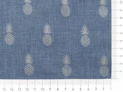 Acheter Tissu polycoton A nana's - denim et silver - 1,49€ en ligne sur La Petite Epicerie - 100% Loisirs créatifs