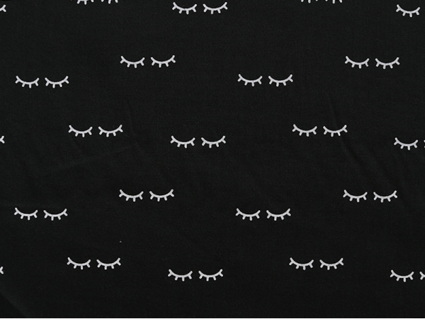 Acheter Tissu polycoton Sleepy Eyes - réglisse - 1,49€ en ligne sur La Petite Epicerie - 100% Loisirs créatifs