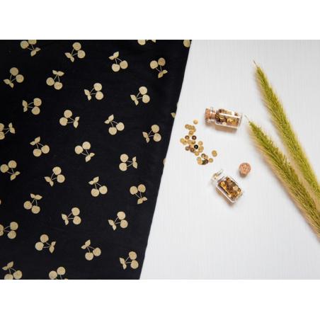 Acheter Tissu Tencel Cherries - noir et doré - 2,19€ en ligne sur La Petite Epicerie - 100% Loisirs créatifs