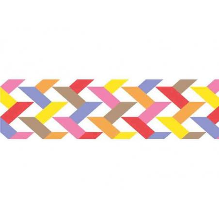 """Acheter Masking tape motif - """"Slash red"""" - imprimé géométrique multicolore - 3,30€ en ligne sur La Petite Epicerie - 100% Lo..."""