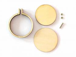 Acheter Mini tambour en bois à broder - 4,8 cm - 3,59€ en ligne sur La Petite Epicerie - 100% Loisirs créatifs