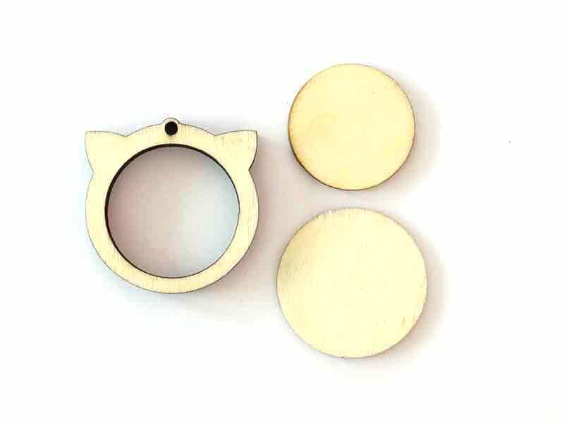 Acheter Mini tambour en bois à broder - Tête de chat - 3,99€ en ligne sur La Petite Epicerie - 100% Loisirs créatifs