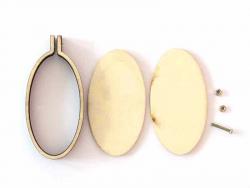 Acheter Mini tambour en bois à broder - ovale vertical 6cm - 3,59€ en ligne sur La Petite Epicerie - 100% Loisirs créatifs