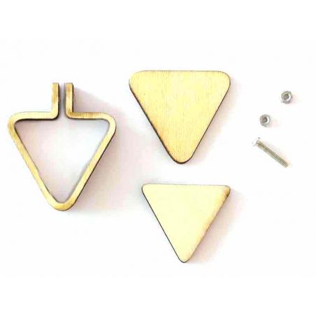 Acheter Mini tambour en bois à broder - triangle - 3,59€ en ligne sur La Petite Epicerie - 100% Loisirs créatifs
