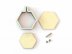 Acheter Mini tambour en bois à broder - hexagone - 3,59€ en ligne sur La Petite Epicerie - 100% Loisirs créatifs