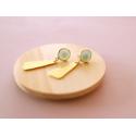 Boucles d'oreilles Raphaëlle mint - Kit bijoux précieux dorés à l'or fin