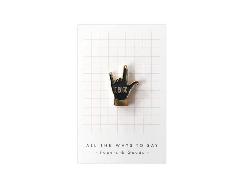 Acheter Broche pin's - I ROCK - 8,99€ en ligne sur La Petite Epicerie - Loisirs créatifs