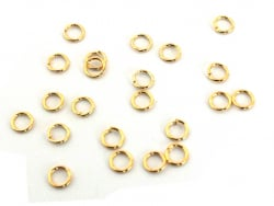 Acheter Lot de 20 anneaux 4mm - dorés à l'or fin - 1,79€ en ligne sur La Petite Epicerie - Loisirs créatifs