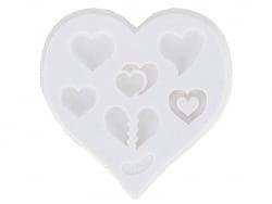 Moule en silicone - Coeurs