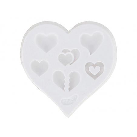 Acheter Moule en silicone - Coeurs - 5,10€ en ligne sur La Petite Epicerie - 100% Loisirs créatifs