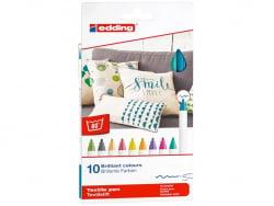Acheter Lot de 10 feutres textiles - pointe 1mm - couleurs fun - 11,49€ en ligne sur La Petite Epicerie - 100% Loisirs créatifs