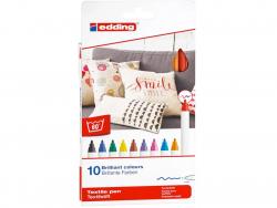 Acheter Lot de 10 feutres textiles - pointe 1mm - couleurs basiques - 11,49€ en ligne sur La Petite Epicerie - 100% Loisirs ...