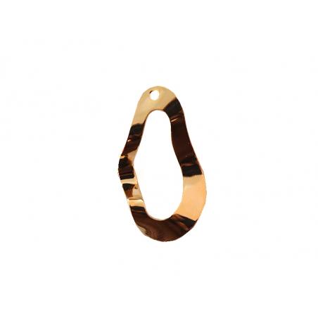 Acheter Pendentif ovale évidé et ondulé - 3 cm - 1,99€ en ligne sur La Petite Epicerie - Loisirs créatifs