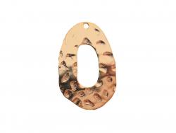 Pendentif ovale martelé - 3 cm