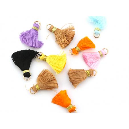 Acheter Lot de 10 pompons - couleurs aléatoires et fil doré - 20 mm - 3,90€ en ligne sur La Petite Epicerie - Loisirs créatifs