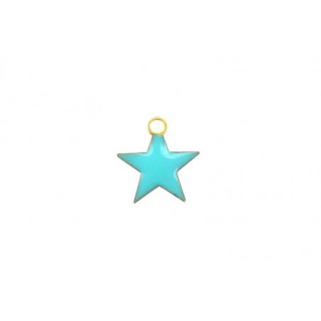Acheter Breloque étoile émaillée - turquoise - 0,59€ en ligne sur La Petite Epicerie - Loisirs créatifs