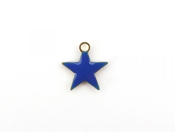 Acheter Breloque étoile émaillée - bleu royal - 0,59€ en ligne sur La Petite Epicerie - Loisirs créatifs