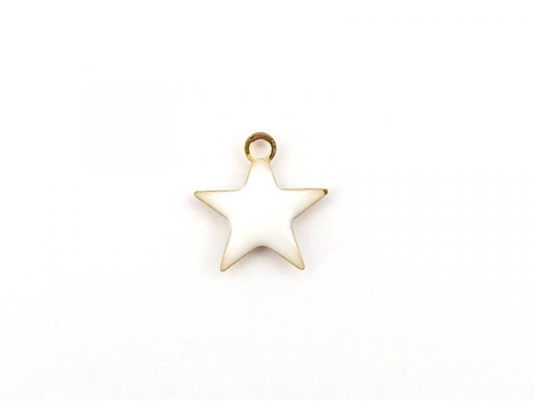Acheter Breloque étoile émaillée - blanc - 0,59€ en ligne sur La Petite Epicerie - Loisirs créatifs
