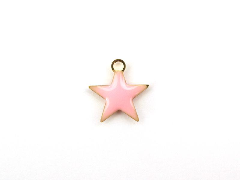 Acheter Breloque étoile émaillée - rose clair - 0,59€ en ligne sur La Petite Epicerie - Loisirs créatifs