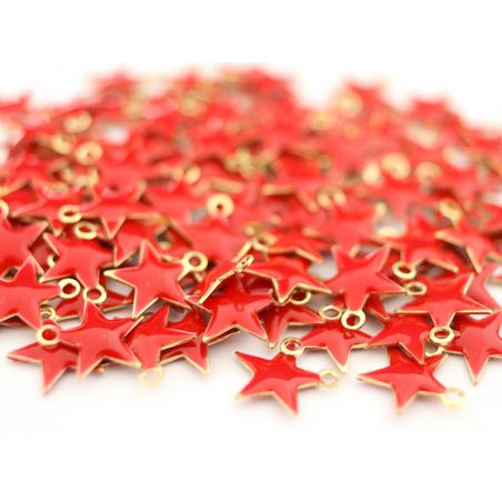 Acheter Breloque étoile émaillée - rouge - 0,59€ en ligne sur La Petite Epicerie - Loisirs créatifs