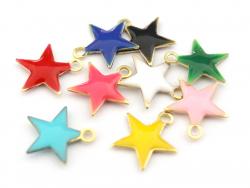 Acheter Breloque étoile émaillée - jaune - 0,59€ en ligne sur La Petite Epicerie - Loisirs créatifs