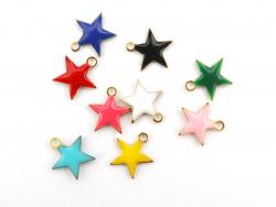 Acheter Breloque étoile émaillée - rose - 0,59€ en ligne sur La Petite Epicerie - Loisirs créatifs
