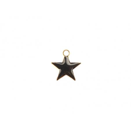 Acheter Breloque étoile émaillée - noir - 0,59€ en ligne sur La Petite Epicerie - 100% Loisirs créatifs