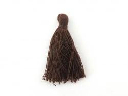 Pompon en coton - marron