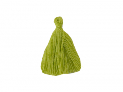 Pompon en coton - vert anis