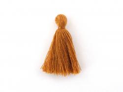 Pompon en coton - marron clair
