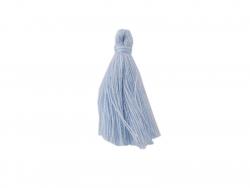 Pompon en coton - bleu layette