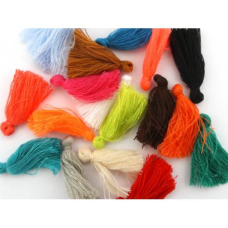 Acheter Pompon en coton - corail fluo - 0,49€ en ligne sur La Petite Epicerie - Loisirs créatifs