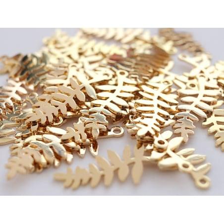 Acheter Pendentif feuille - doré à l'or fin - 2,79€ en ligne sur La Petite Epicerie - 100% Loisirs créatifs