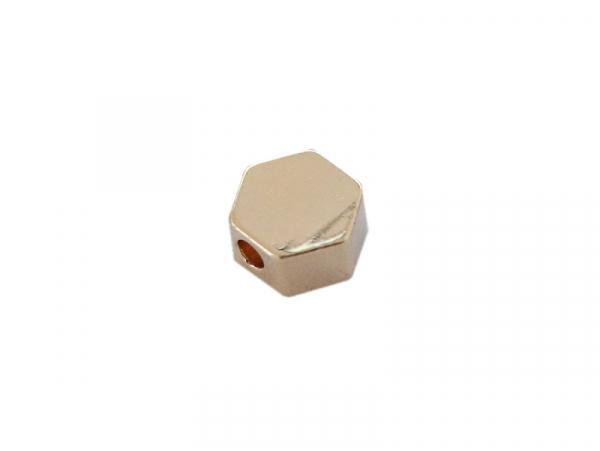 Acheter Perle hexagone - dorée à l'or fin 18K - 0,49€ en ligne sur La Petite Epicerie - 100% Loisirs créatifs