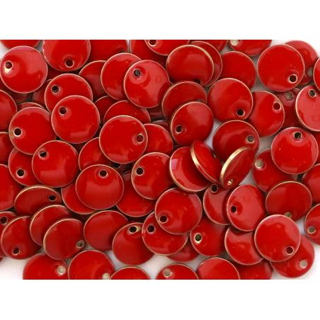 Acheter Breloque ronde émaillée - rouge - 0,59€ en ligne sur La Petite Epicerie - Loisirs créatifs